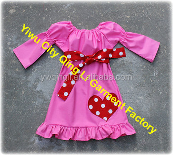 db872a264 Highly Recommend Baby Girl Valentines Day Bubble Gum Pink Peasant Dress  Girl Birthday Party Dress with