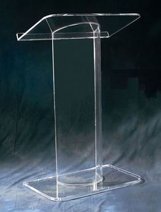 Floor standing clear OEM/ODM glass acrylic modern podiums and lecterns