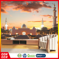 Wonders of the World sunset city views wall murals
