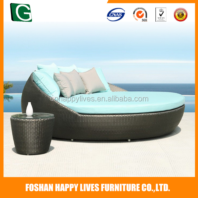 Manufacturers selling new lifestyle villa furniture rattan king size daybed on sale