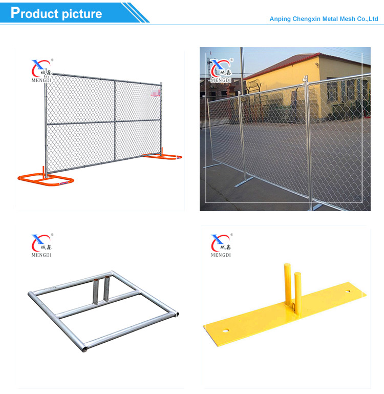 Hot Sales 6'x10' Canadian/American temporary Chain Link Fence Panel