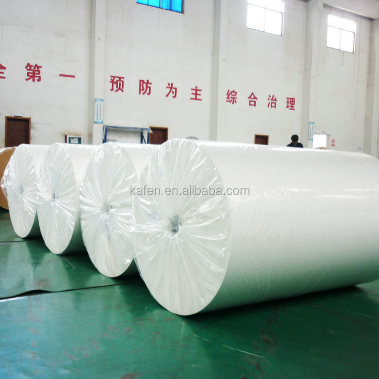Glazed non-woven wallpaper base paper