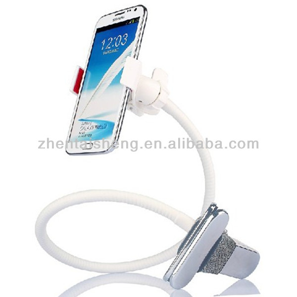 Hand free mobile phone holder with clamp