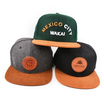 b2401e71 Custom Leather Patch Logo Snapback Hats Wholesale - Buy Custom ...