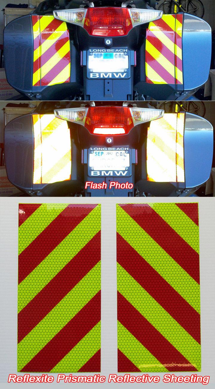 5 Reflective Chevron Motorbike Helmet Stickers Iom Tt Cars