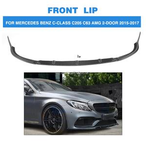 W205 C Class 3pcs/set Carbon Fiber Front Lip Spoiler for Mercedes W205 C63  AMG 15-17