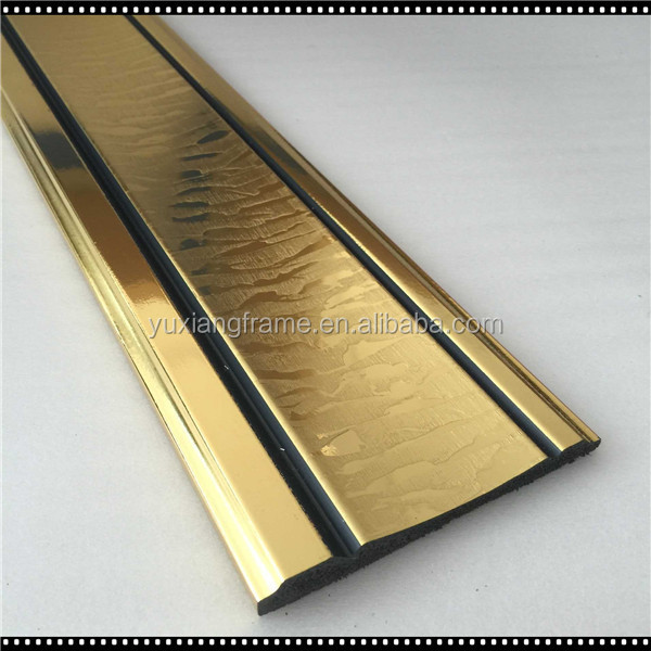 New Arrival Gold Color Ps Decorative Chair Rail Molding