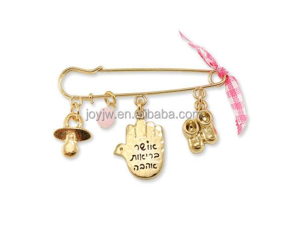 Baby Girl Newborn Gift Carriage Pin My Princess Hamsa Evil Eye