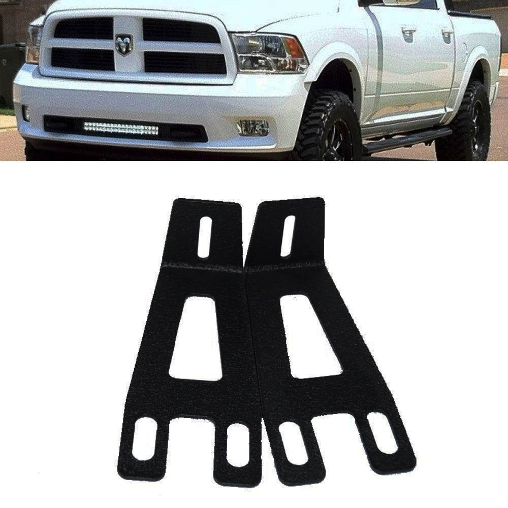 """20inch 21"""" 22"""" Single Row Or 2010-17 Dual Row Curved Straight LED Light Bar Hidden Front Bumper Mount Mounting Brackets For 2003-2017 Dodge Ram 3500 2500 4Wd/2Wd"""