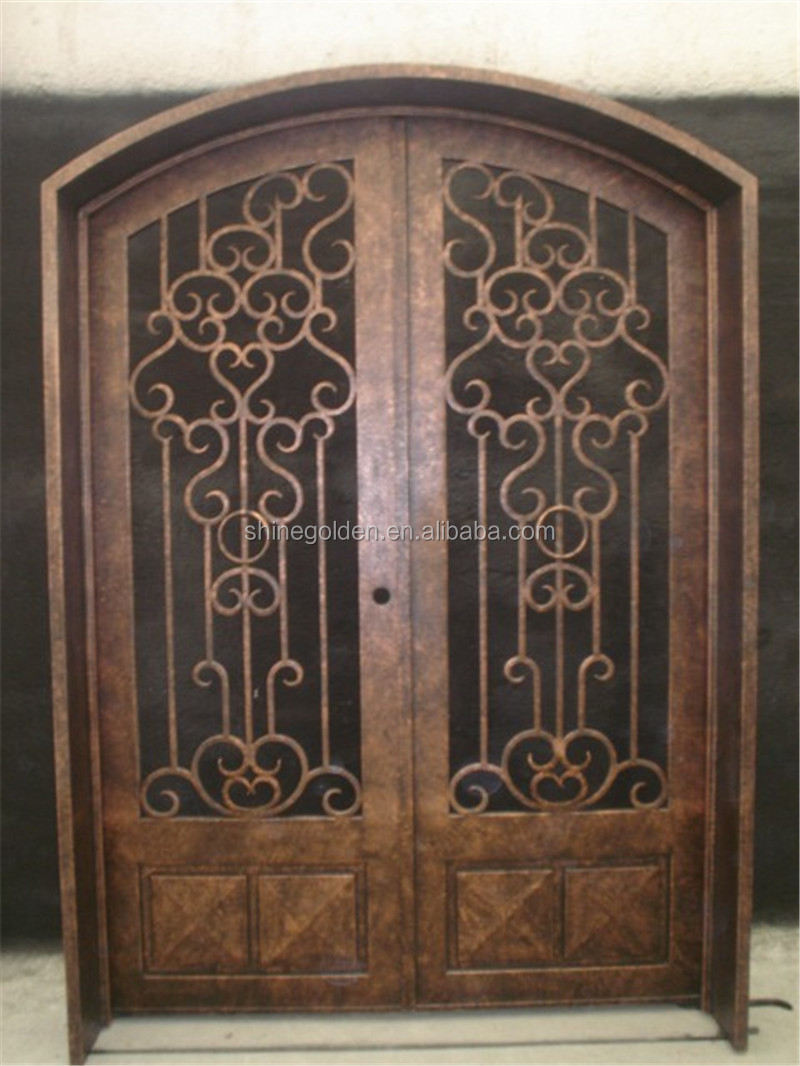 Wrought Iron Entry Door Front Door Customize Metal
