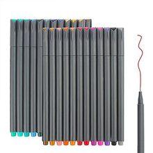 Цветные маркеры с тонкими наконечниками, маркеры с точками, маркеры для записей, маркеры для рисования, Набор для раскрашивания книг(Китай)
