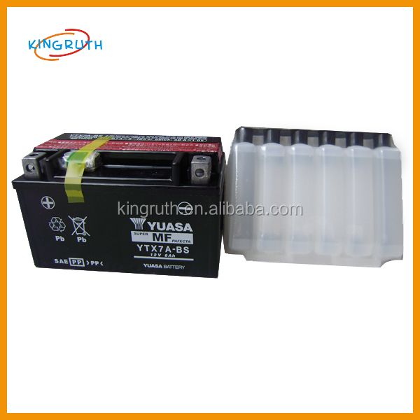 12V YTX7A-BS motorcycle yuasa lead acid battery