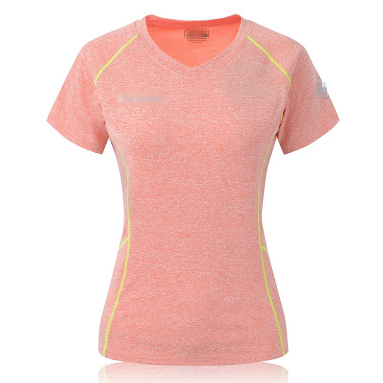 MS021 5 Color Women's Fitted Tight Running Workout Sports Training Running Sleeve T-shirt Quick Suck Sweat Materials
