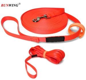 Long Trainer - 3/4 Inch Nylon Dog Training Leash with Storage Strap
