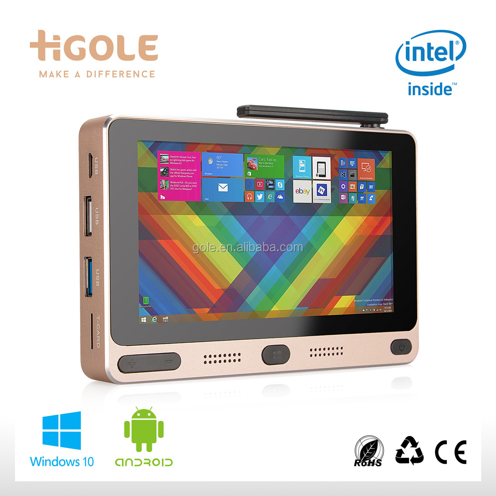 Gole F1 Windows10 and Android 5.1 Dual Boot OS Intel Z8350 Quad Core 5 inch tablet pc 4G/64G business computer