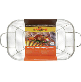 Square And Round Shape BBQ Stainless Steel BBQ Grill Wire Mesh Basket