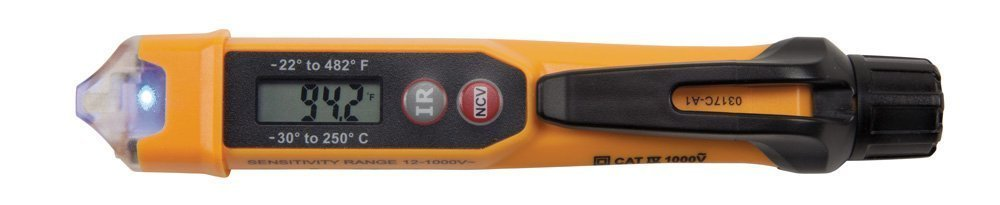 BESTChoiceForYou Non-Contact Voltage Tester w/Infrared Thermometer, 1- Non-Contact Voltage Tester w/Infrared Thermometer, Non Contact Voltage Tester With Infrared Thermometer Compact Lightweight