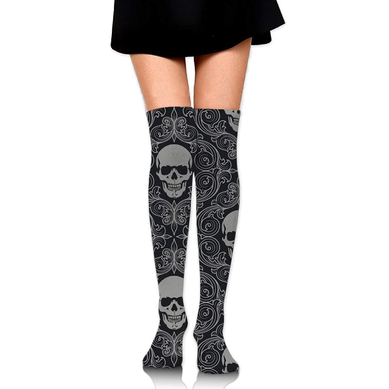 Zaqxsw Skull Women Cool Thigh High Socks Over The Knee Socks For Teen Girls