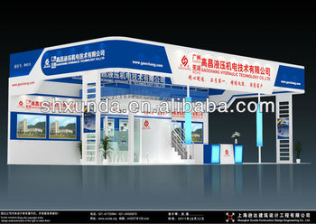 Big Exhibition Stand Design : Big awesome double deck exhibition m booth stand display two