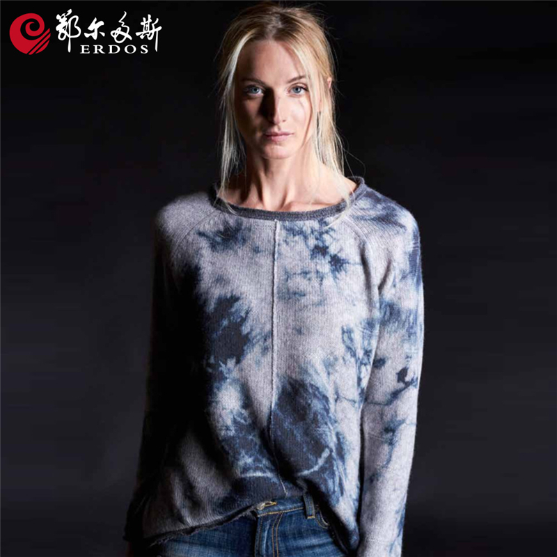 Erdos China wholesale printing blank cashmere sweaters for women