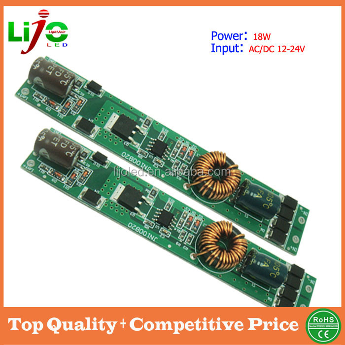 18W max 210ma constant current dc ac 12-24v slim type internal led driver for t5 t8 led tube light