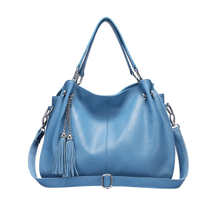 Hot Selling <strong>Genuine</strong> <strong>Leather</strong> Lady Handbag Women's Leisure Tassel <strong>Bag</strong> Tote Shoulder <strong>Hobo</strong> <strong>Bags</strong>