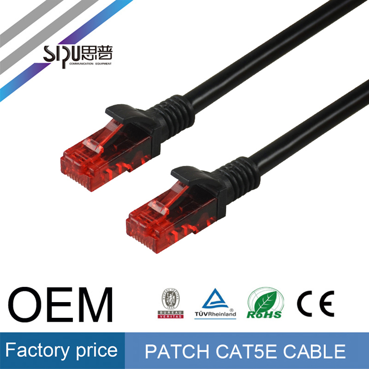 SIPU high quality CCA rj45 cat5 utp patch cable best price utp cat5e patch cord 1m 2m 3m wholesale cat 5 communication cable