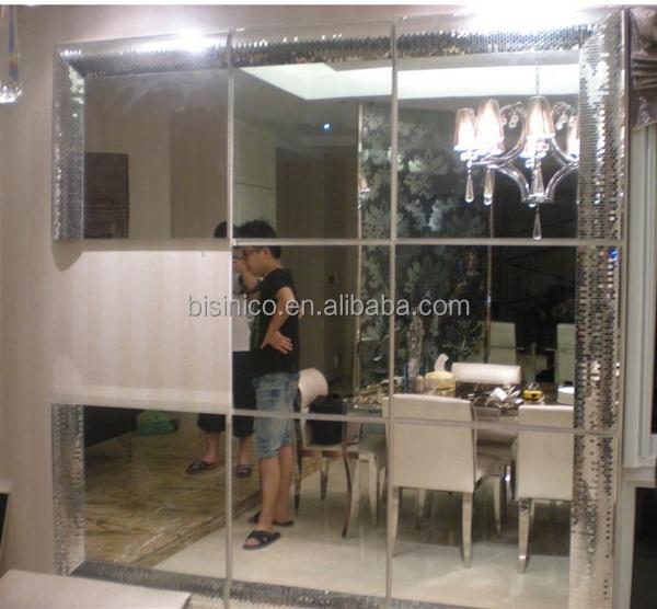 Regular Broken Glass Mosaic Frame Mirror,Flare Bevelled Frame Floor ...