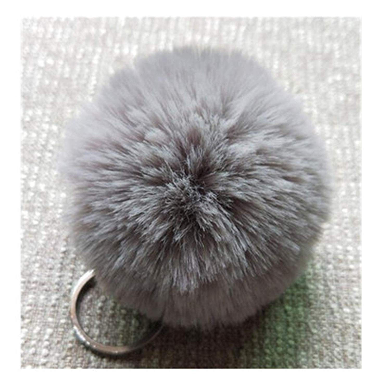8Cm 13 Colors Fluffy Rabbit Fur Ball Key Chain Cute Cream Black Pompom  Artificial Rabbit Fur 85bef47e3d