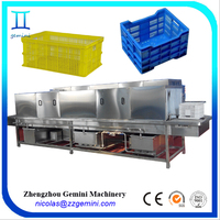 Automatic high pressure various sizes plastic basket/tray/turnover box crate washer