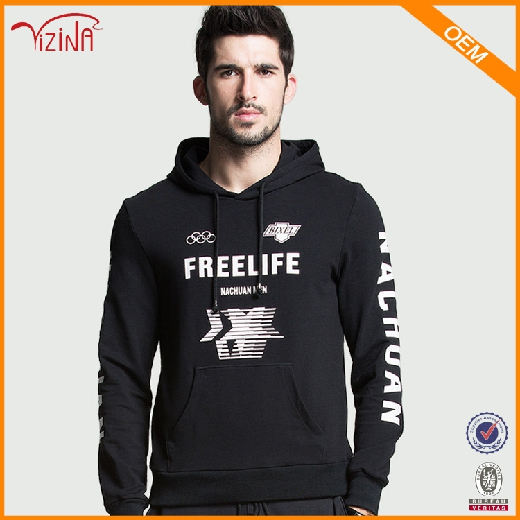 Clothes Manufacturer Wholesale 65% Polyester 35% Cotton Custom Printed Hooded Men Hoodies
