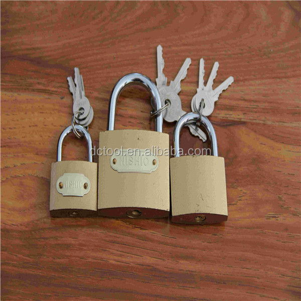 Brass Iron padlock/Brass Plated Golden Padlock