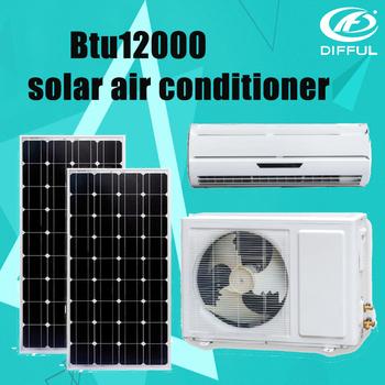 12000btu aire acondicionado DC 48v100% solarenergy alimentado de aire acondicionado solar