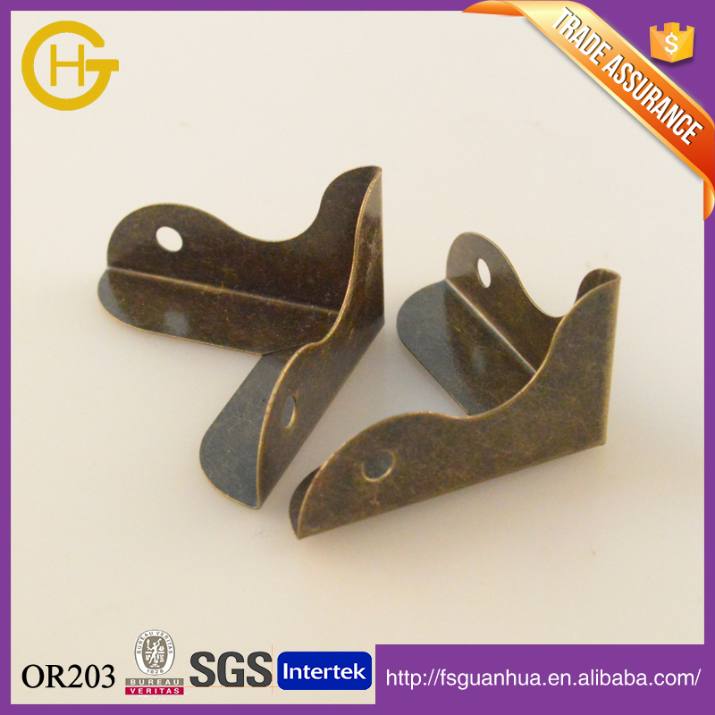 For book antique brass metal corner protector