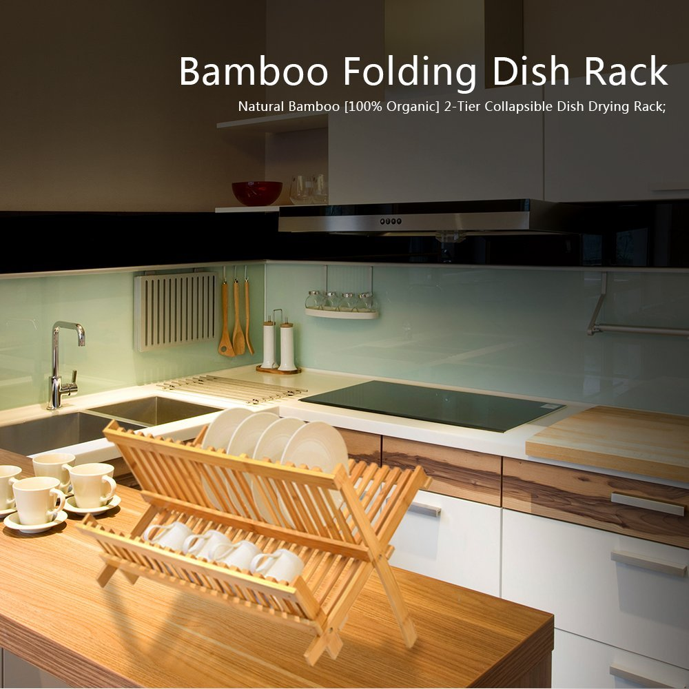 hot selling bamboo dish rack kitchen copper dish rack for high quality