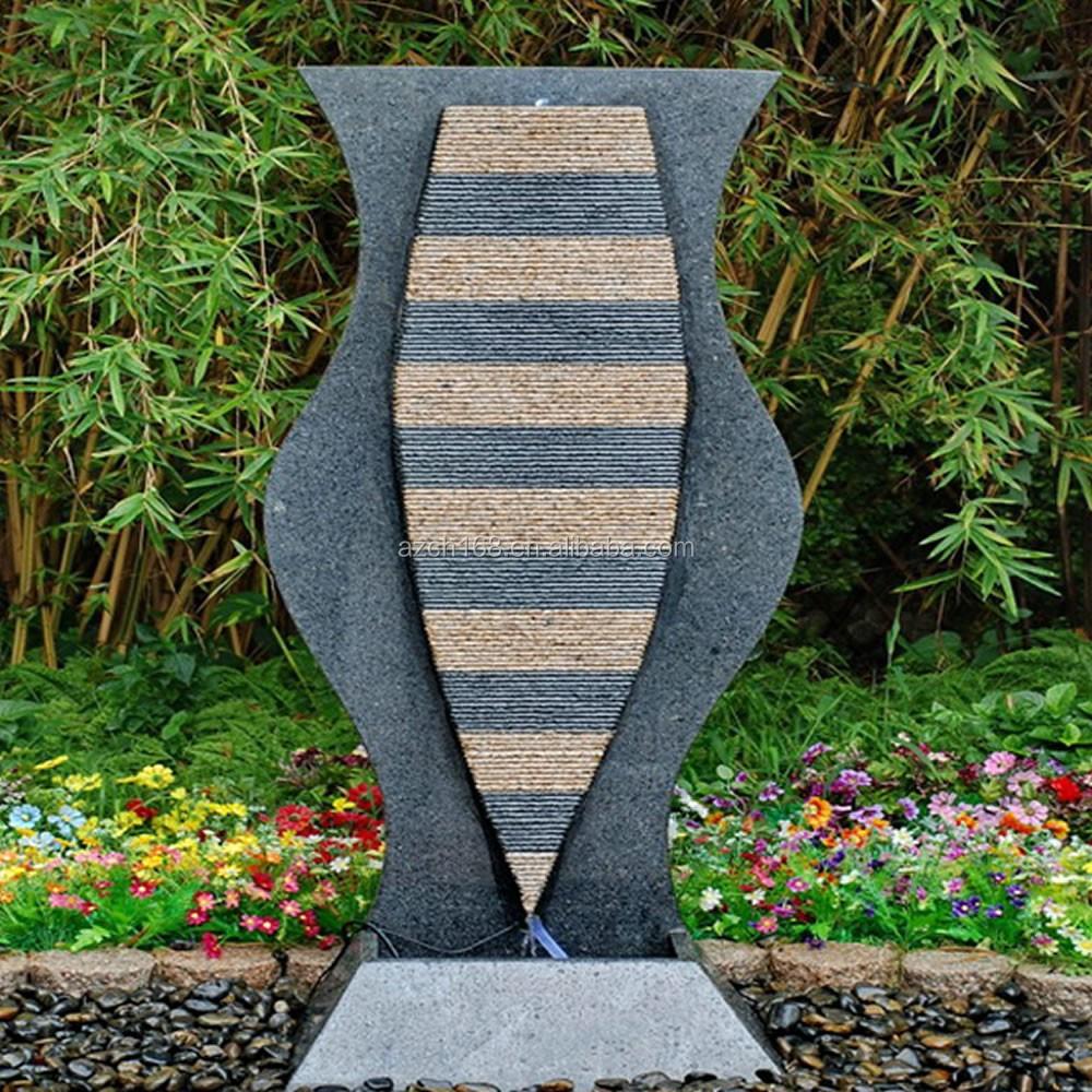 Tuin water muur fontein natuurlijke steen fontein stenen tuin ...