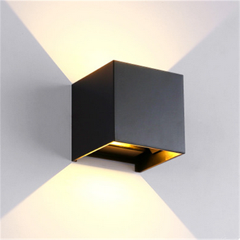 Outdoor Up And Down Wall Light Aluminum Alloy IP65 Waterproof 6w 10w Led Indoor Square