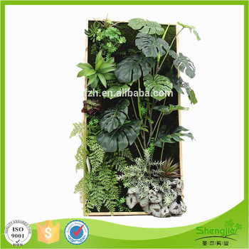 Factory Price Hanging Indoor Fake Artificial Foliage Plant Frame Wall