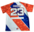 New style custom sublimation blue and white usa softball jersey