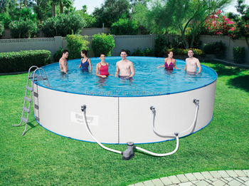 18ftx48in Roll Up Steel Wall Swimming Pools/above Ground Stainless Steel  Pools/above Ground Steel Swimming Pool - Buy Above Ground Stainless Steel  ...