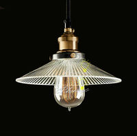 Modern Industrial Glass Pendant Lighting in Painted Finish