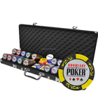 100 200 300 400 500 600 1000 PCS Custom Printed Clay Plastic Poker Chips Gift Set in Silver Aluminium Case