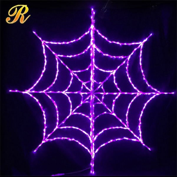 Decorative led spider web 2D sculpture for Halloween use