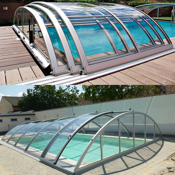 Charmant Pool Enclosure Remote Automatic Polycarbonate Retractable Swimming Pool  Covers