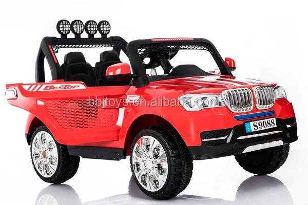 Grote Kinderen Elektrische Auto Vierwielaandrijving Off Road Dubbele
