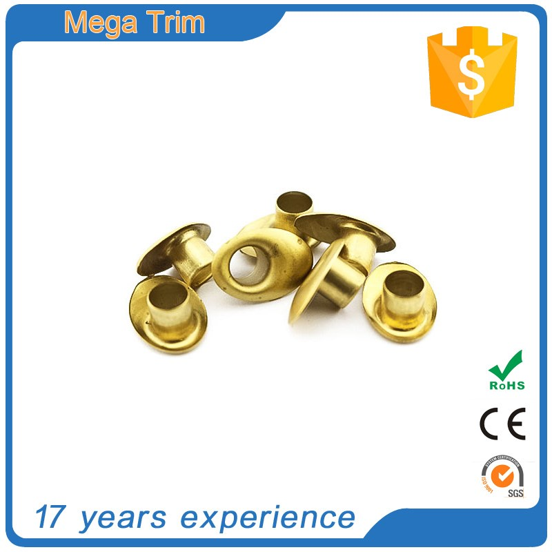 high quality hardware products accessories custom size fancy grommets for clothing black round metal curtain handbag hardware