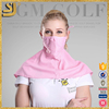 Professional Easy Breath Snorkel Sunscreen Face Mask With Shawl For Outdoor Sport Such as Golf