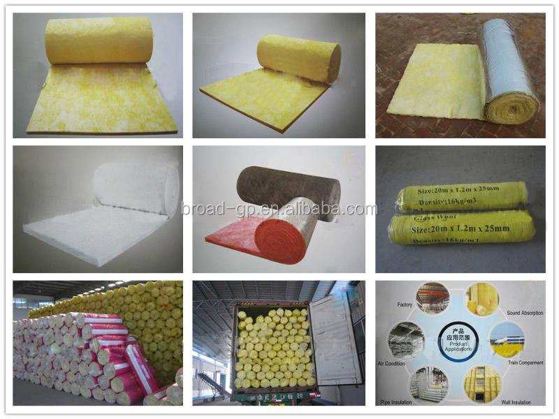 Fiber Glass Wool Blanket With Aluminum Foil,Fiberglass Insulation ...