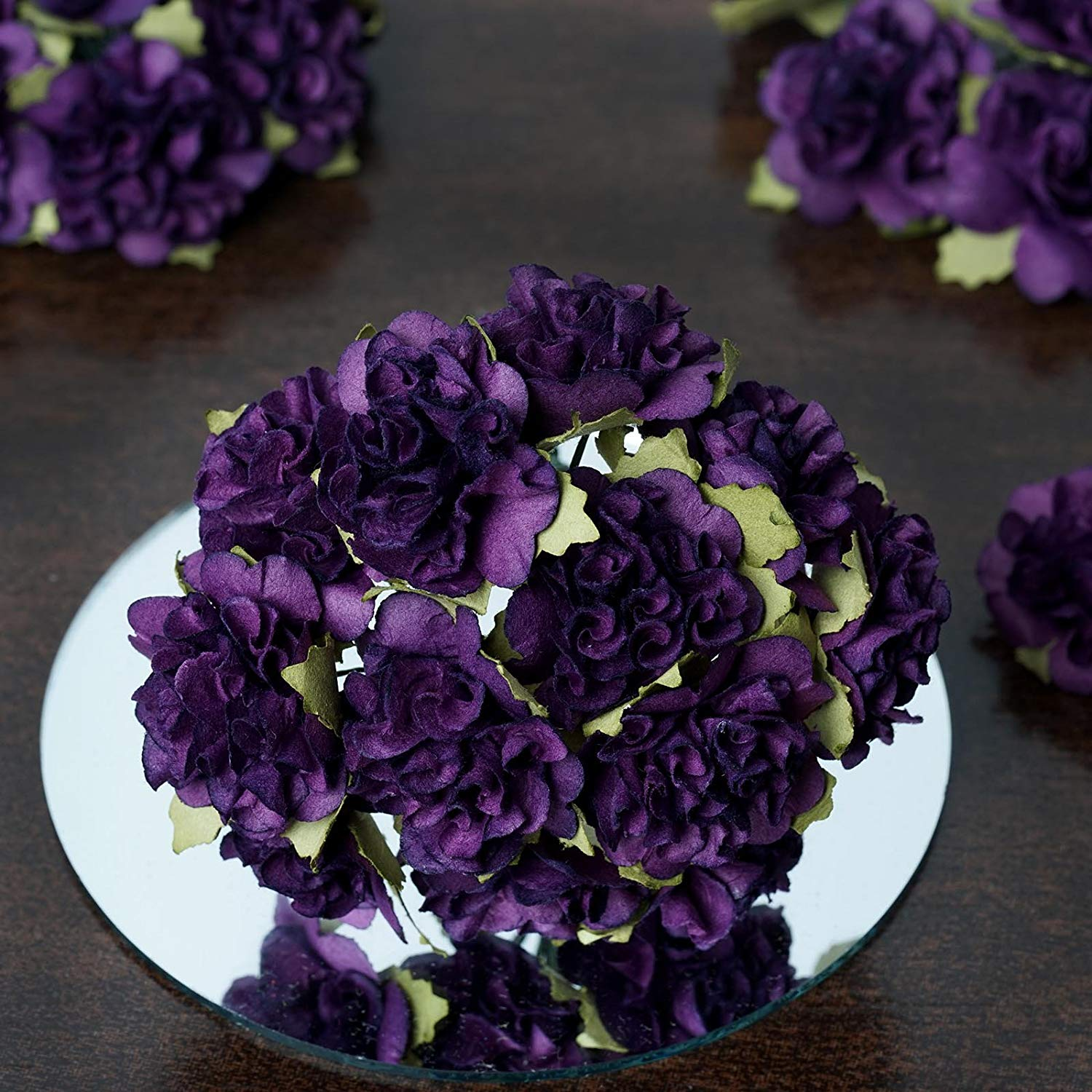 Cheap purple flowers in decorations find purple flowers in get quotations balsacircle 72 purple craft paper carnations mini flowers for diy wedding birthday party favors decorations izmirmasajfo