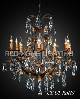 Europe clear crystal decoration gold candle baroque chandeliers europe clear crystal decoration gold candle baroque chandeliers aloadofball Image collections